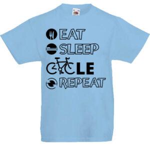 Eat sleep cycle repeat- Gyerek póló