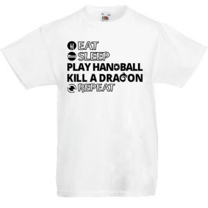 Eat sleep play handball repeat- Gyerek póló