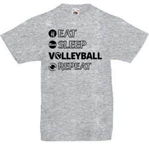 Eat sleep volleyball repeat- Gyerek póló