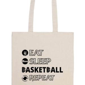 Eat sleep basketball repeat- Prémium hosszú fülű táska