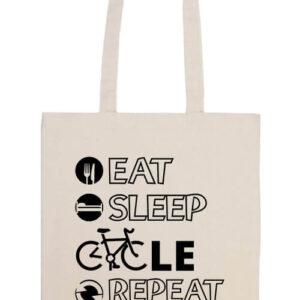 Eat sleep cycle repeat- Basic hosszú fülű táska