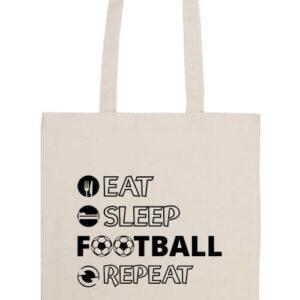 Eat sleep football repeat- Prémium hosszú fülű táska