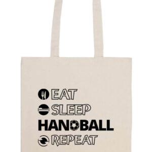 Eat sleep handball repeat- Prémium hosszú fülű táska