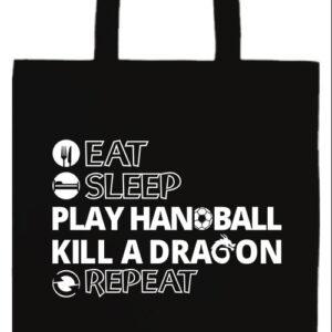 Eat sleep play handball repeat- Basic hosszú fülű táska