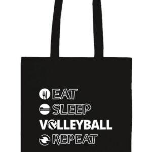 Eat sleep volleyball repeat- Basic hosszú fülű táska