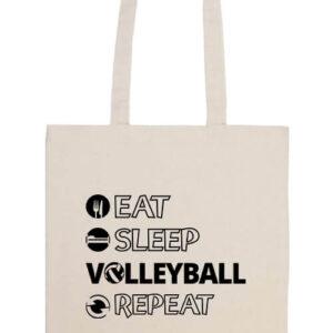 Eat sleep volleyball repeat- Prémium hosszú fülű táska