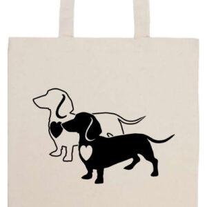 I love Tacskó- Prémium hosszú fülű táska