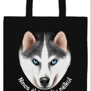 Nincs élet husky nélkül- Basic hosszú fülű táska