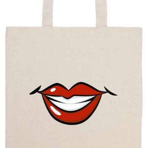 Női mosoly- Prémium hosszú fülű táska