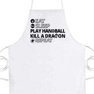 Eat sleep play handball repeat- Basic kötény