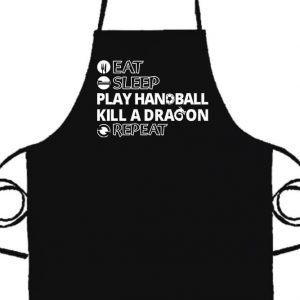 Eat sleep play handball repeat- Prémium kötény
