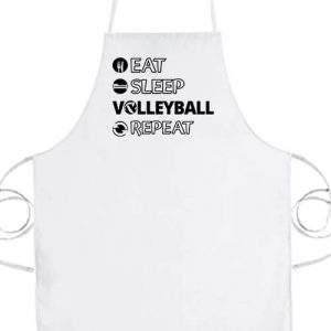 Eat sleep volleyball repeat- Basic kötény