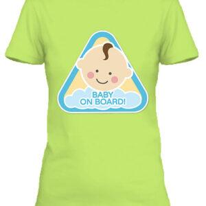 Baby on board fiú – Női póló