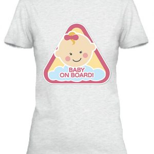 Baby  on board lány – Női póló