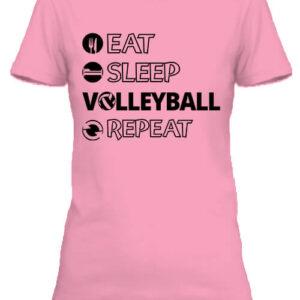 Eat sleep volleyball repeat – Női póló