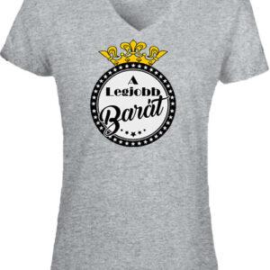 A legjobb barát – Női V nyakú póló