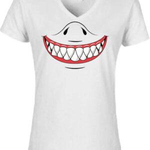 Cápafog mosoly – Női V nyakú póló