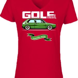 Golf őrültek I – Női V nyakú póló