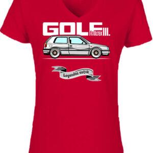 Golf őrültek III – Női V nyakú póló