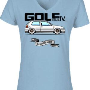 Golf őrültek IV – Női V nyakú póló