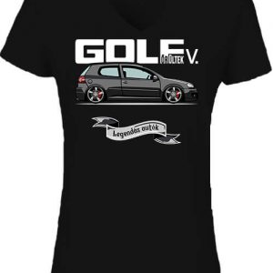 Golf őrültek V – Női V nyakú póló