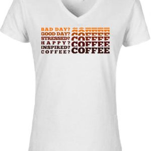 I love coffee – Női V nyakú póló