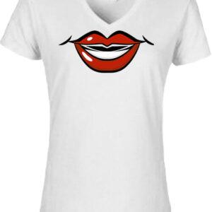 Rúzs – Női V nyakú póló