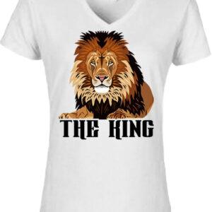 The king Az oroszlán – Női V nyakú póló