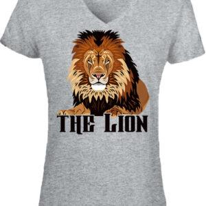 The lion Az oroszlán – Női V nyakú póló