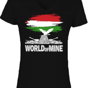 World of mine – Női V nyakú póló