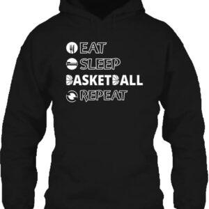 Eat sleep basketball repeat – Unisex kapucnis pulóver