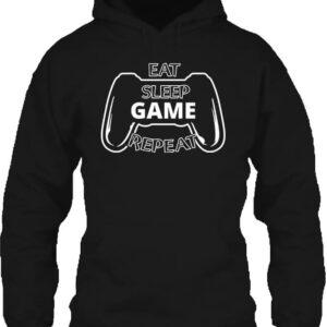 Eat sleep game repeat – Unisex kapucnis pulóver