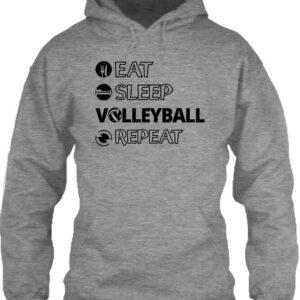 Eat sleep volleyball repeat – Unisex kapucnis pulóver