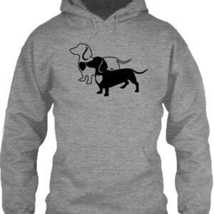I love Tacskó – Unisex kapucnis pulóver