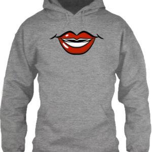 Rúzs – Unisex kapucnis pulóver