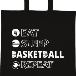 Eat sleep basketball repeat- Basic rövid fülű táska