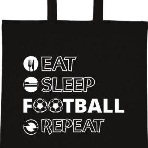 Eat sleep football repeat- Basic rövid fülű táska
