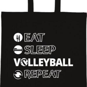 Eat sleep volleyball repeat- Basic rövid fülű táska