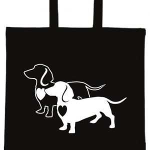 I love Tacskó- Basic rövid fülű táska