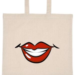 Női mosoly- Basic rövid fülű táska