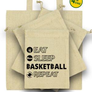 Eat sleep basketball repeat – Táska szett