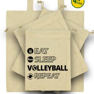 Eat sleep volleyball repeat – Táska szett