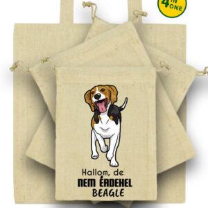 Hallom de nem érdekel beagle – Táska szett
