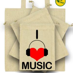 I love music – Táska szett