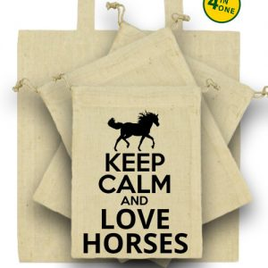 Keep calm and love horses lovas – Táska szett