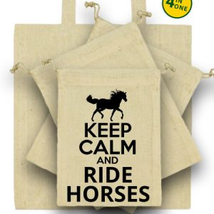 Keep calm and ride horses lovas – Táska szett