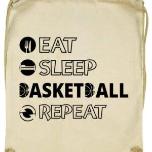 Eat sleep basketball repeat- Basic tornazsák