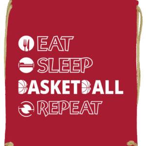 Eat sleep basketball repeat- Prémium tornazsák
