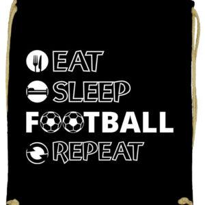 Eat sleep football repeat- Prémium tornazsák