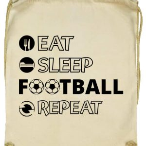 Eat sleep football repeat- Basic tornazsák